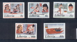 Liberia 1987 Winter Olympics Calgary MUH - Liberia