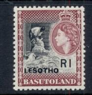 Lesotho 1966 QEII Pictorial Opt Lesotho 1R MUH - Lesotho (1966-...)