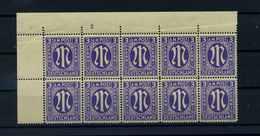 BIZONE 1945 Nr 10 Fy Postfrisch (106070) - Zone Anglo-Américaine