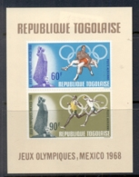 Togo 1967 Pre Summer Olympics Mexico City MS MUH - Togo (1960-...)