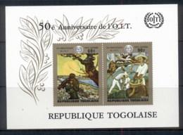 Togo 1970 ILO 50th Anniv. Paintings MS MUH - Togo (1960-...)