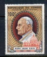 Congo PR 1965 Pope John XXIII MUH - Congo - Brazzaville