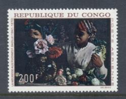 Congo PR 1968 Paintings 200f Woman Arranging Flowers MUH - Congo - Brazzaville