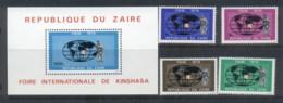Zaire 1979 Kinshasa Fair + MS MUH - Zaire