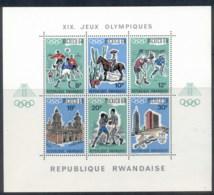 Rwanda 1967 Summer Olympics Mexico City MS MUH - Rwanda