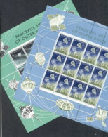 Nigeria 1963 Peaceful Use Of Outer Space 2xsheetlets Muh - Nigeria (1961-...)