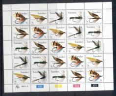 Transkei 1980 Fishing Flies Sheetlet MUH - Transkei