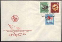 DDR 1958 Mi-Nr. 657/59 FDC - DDR
