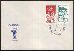 DDR 1958 Mi-Nr. 645/46 FDC - FDC: Briefe