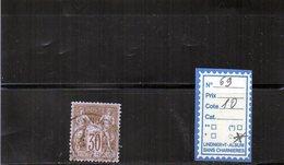 FRANCE   N° 69  OBLITERE - 1876-1878 Sage (Type I)