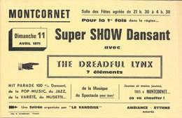 MONTCORNET (02-Aisne) La Vandoise Vous Invite à Vous Amuser En 1971 - Plaques Publicitaires