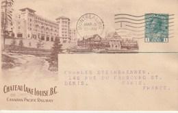 CARTE 1918 MONTREAL CHATEAU LAKE LOUISE CANADIAN PACIFIC RAILWAY - 1911-1935 Règne De George V