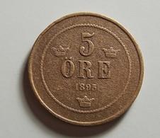 Sweden 5 Ore 1895 Varnished - Schweden