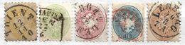 1689k: Österreich 1864 Weite Zähnung, Serie Komplett In Unterschiedlicher Erhaltung, Billigste Sorte ANK 44.- € - Gebraucht