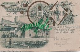 KAYSERBERG  -  CPA   -  Pompiers - Fascht  ( Fête Des Pompiers ) Du  23  Juin  1901 . - Kaysersberg