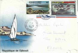 YT 581 - Lac Assal - Oryx - YT PA 233 - Avion Amiot 370 - Lettre De Djibouti Pour La France - Djibouti (1977-...)