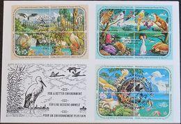 UNO NEW YORK - WIEN - GENF 1991 TRIO-FDC Für Eine Bessere Umwelt - New York/Geneva/Vienna Joint Issues