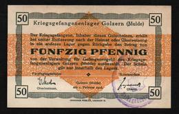 GEFANGENENLAGER GELD LAGERGELD BILLET CAMP GOLZERN MULDE PRISONNIER ALLEMAGNE KG POW GUERRE 1914 1918 - 1914-18