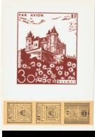 France 1953 - 3 Cartes Lettres - Grève De Saumur - - Strike Stamps