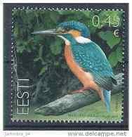 2014 ESTONIE 730** Oiseau, Martin-pêcheur - Estonie