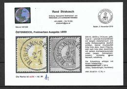 1689n: Österreich 1859, Perfekter Stempel Herrmannstadt (Sibiu), Mit Attest Strakosch (2 Scans) - 1858-1880 Fürstentum Moldau