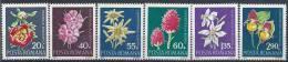 1972 ROUMANIE 2682-87** Fleurs, Orchidée - 1948-.... Republics