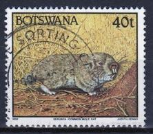 Botswana 1992 Single 40t Definitive Stamp From The Animals Set. - Botswana (1966-...)
