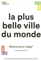 CP Pub. Belgique - Liège, La Plus Belle Ville Du Monde, Plus Ardente Qu' Eyjafjallajökull - Volcan, Islande - Liege