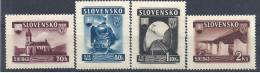 1943 SLOVAQUIE 90-93** Trains, Pont - Ongebruikt