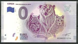 Billet Touristique 0 € 2018 ZOO Cerza Ours Loup Renard - EURO