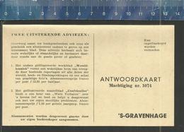 ZUID-HOLLANDSCHE UITGEVERS MAATSCHAPPIJ DEN HAAG ANTWOORDKAART MACHTIGING Nr 1074  'S GRAVENHAGE - Commerce