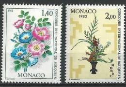 """Monaco YT 1295 Et 1296 """" Concours Bouquets """" 1981 Neuf** - Monaco"""