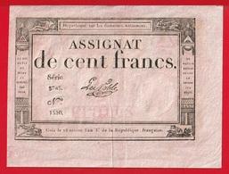 ASSIGNAT DE CENT FRANCS Du 18 NIVOSE DE L'AN 3 De La République Française - Assignats & Mandats Territoriaux