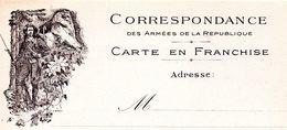 """CP - Correspondance Des Armées De La République-  Allégorie:"""" Chasseur Alpin """" - - Marcophilie (Lettres)"""