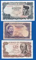 Espagne 3 Billets Dans L'état - [ 4] 1975-… : Juan Carlos I