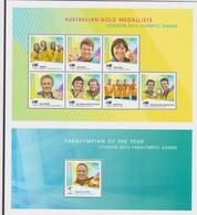 Australia ASC 2012 Paralympian And Olympian Gold Medallists Sheetlet,mint Never Hinged - 2010-... Elizabeth II