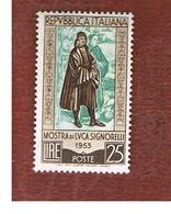 ITALIA REPUBBLICA -   UN. 725   -   1953    LUCA SIGNORELLI   - NUOVI ** (MINT) - 6. 1946-.. Repubblica