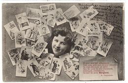 REPRÉSENTATION DE CARTES POSTALES - POST CARDS - Poeme A. Gaboriaud - Ed. A. Bergeret, Nancy - Bergeret