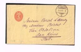 Devant D'entier Postal à 5 Centimes, De Saint-Blaise à San Remo (Italie) - Entiers Postaux