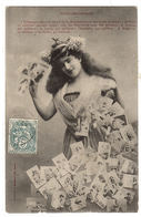 Collectionneurs - COLLECTION - FEMME ET CARTES POSTALES - POST CARDS - Ed. A. Bergeret, Nancy - Bergeret