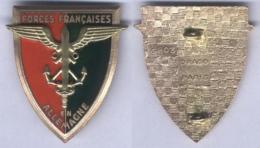 Insigne Des Forces Françaises En Allemagne - Vert Foncé - Armée De Terre