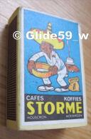 Boîte D'allumettes - Cafés - Koffies - STORME - Mouscron - Moeskroen - Mexicain Chercheur D'Or (pleine) - Boites D'allumettes