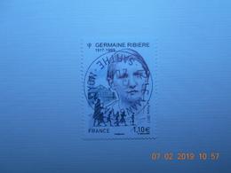 FRANCE 2017   YTN° 5129   GERMAINE  RIBIERE (1917-1999)  Timbre Neuf Oblitéré Cachet Rond - France