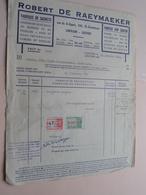 Robert De RAEYMAEKER Leuven - Fabriek Van Zakken / Papier Op Rol > Anno 1946 ( Zie Foto's ) ! - Imprenta & Papelería