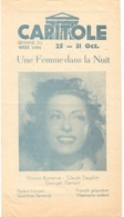 Ciné  Bioscoop Programma Cinema Capitole Gent - Film Une Femme Dans La Nuit - Publicité Cinématographique