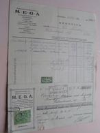 MEGA Antwerpen Nationalestraat / Elektrische Benodigdheden In Het Groot > Anno 1928 Met Reçu ( Zie Foto's ) ! - Électricité & Gaz