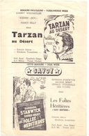 Ciné  Bioscoop Programma Cinema Capitole Gent 1947 - Film Concerto Van Warschau + Tarzan Au Désert - Publicité Cinématographique