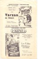 Ciné  Bioscoop Programma Cinema Capitole Gent 1947 - Film Concerto Van Warschau + Tarzan Au Désert - Cinema Advertisement