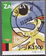 Zambie - YT N°1110 - Eclipse Solaire Du 21 Juin - 2001 - Oblitéré - Zambie (1965-...)