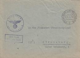 Env Frei Durch Ablösung Reich Obl STRASSBURG (ELS)-SCHILTGHEIM Du 22.7.44 Adressée à Strassburg - Postmark Collection (Covers)